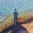 Nager dans des eaux limpides portant un trouble…